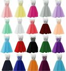 New Short Lace Bridesmaid Formal Gown Ball Party Evening Prom Dress Size 6-22