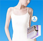 SBW Try Underwear Women Sleeveless Smart Camisole Tank Top 100% Cotton 5pack