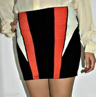 trendy SEXY mini GONNA BERSHKA TUBINO nera corta fascia BODYCON PENCIL SKIRT