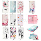 New Painted Stand Flip Card Wallet PU Leather Case Cover For Samsung Galaxy Skin
