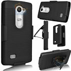 Armor Hard Case Protective Cover Belt Clip Holster Stand For LG Leon 4G LTE C40