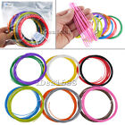 12 Pack Colours x 5m ABS PLA Filament 1.75mm for 3D Printer Printing Drawing Pen