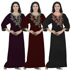 LADIES 100% COTTON LONG NIGHTDRESS NIGHTY CHEMISE EMBROIDERY DETAILED SIZE 12-28