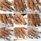 6pcs Charm Comfy Boho Elephant Turquoise Above Knuckle Ring Mid Finger Tip Rings