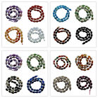 Interesting 12x8xmm Faceted Drum Mixed Gemstone Loose Bead J122901