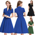 WOMENS VINTAGE 50S STYLE PIN UP EVENING PARTY RETRO SKATERS TEA DRESS