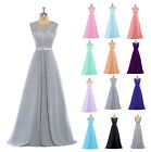 New Long Lace Evening Prom Gown Formal Chiffon Wedding Party Bridesmaid Dresses