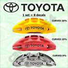 Toyota X 8 Pieces Curved #2 Straight Decals Stickers Graphics Emblem Logo I