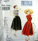 Vogue Sewing Pattern 8973 Ladies Vintage Model 50s Pleated Dress Pick Size
