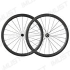 Carbon 40mm Deep Tubular Road Bike Wheelset Powerway Hub R23 Sapim Spoke