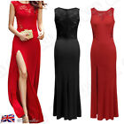 Womens Ball Gown Evening Party Wedding Bridesmaid Maxi Long Lace Formal Dresses