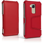 PU Leather Flip Case for Huawei G8 Stand Book Folio Cover + Screen Protector