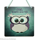 Owl always love you wall plaque sign vintage retro shabby chic novelty I will