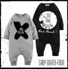 Cute Baby Boys Romper Bodysuit Outfits Set Pajamas To the Moon and Back No Sleep