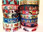 Boys Marvel Super Hero Spiderman Superman Disney Avengers Grosgrain Ribbon 1m