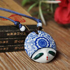 Porcelain Jewelry Ceramic Nine Style Beauty Face Pendant Adjustable Necklace