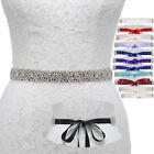 Dazzling Rhinestone Wedding Sash Party Prom Bridal Belt For Bride Bridesmaid
