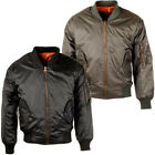 Mens Raiken MA-1 Heavy Brass Zip Reversible Flight Bomber Security Pilot Jack...