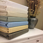 1500 Thread Count 100% Egyptian Cotton Stripe Bed Sheet Set 15 COLORS / 6 SIZES image