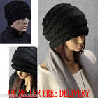 New Warm Winter Fashion Unisex Oversized Cable Knit Baggy Beanie Slouch Hat Cap