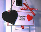 Personalised Wedding Countdown Chalkboard Plaque Engagement Gift Mr & Mrs