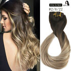 Natural Black Dirty Sand 1b/18 Balayage 10pcs Clip In Remy Human Hair Extensions