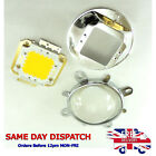 Set 50W Cold / Warm White LED and 58mm Glass Lens + Reflector + Bracket #G03+A33