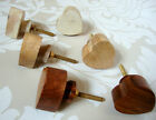 Wooden Heart Drawer Knobs, Dark Medium Light, Cupboard Door Handles Pulls