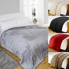 Faux Fur Throws Fleece Soft Warm Blanket Mink Sofa Bed Luxury Double & King