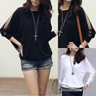 AU SELLER Celeb Style Sexy women's Batwing Long Sleeve Blouse Top T-Shirt T091
