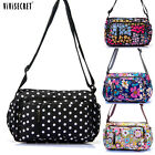 Women Lady Floral Cross body Messenger Hobo bag Handbag Purse Satchel Waterproof