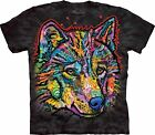 Happy Wolf Animal T Shirt Adult Unisex The Mountain