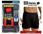 Hanes Men's Tagless® No Ride Up Boxer Briefs with Comfort Soft® Waistband 5 Pack