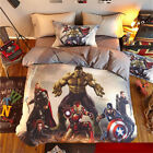 Marvel Avengers Shield Kids SB Double Queen Doona Cover Quilt Cover Bedding Set