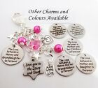 BAG CHARM- Love between.../ STARS & Back/ MWL/ birthday,Gift, Godmother, mother