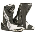 RICHA BLADE WATERPROOF MOTORCYCLE MOTORBIKE SPORTS BIKE BOOTS BLACK WHITE