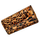 Brand New Womens Leopard Print Wallet Purse Clutch - Colour PINK SALMON
