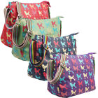 Ladies Oilcloth Poodle Cross Body Messenger Bag Women Shoulder Tote Satchel Hand