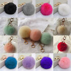 Lovely Rabbit Fur Ball Key holder Car Keychain Handbag Bags Charm Key Ring New J