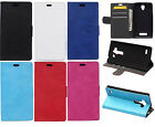 For Sony series Z5 C5 E5 M5 E4 M4 Lichi High Wallet Card Leather Case Cover SF