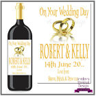 Personalised Wedding Day Bottle Label Gift Wine, Spirit or Champagne WDBL 13