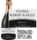 Personalised Wedding Bottle Label Gift Wine, Spirit or Champagne WDBL 22