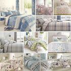 Elton Cotton Blend Duvet Cover Quilt Bedding Set Or Bedspread Throw Or Curtains