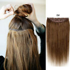 18inches Five Clips In One Piece Real Human Hair Extensions Thicken Full Head