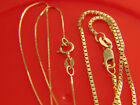 Kyпить Real Solid 14k YELLOW GOLD Box Chain Necklace  box chain 1.5mm на еВаy.соm