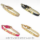 JUICY COUTURE Female DOG COLLAR with GOLD HEART & CROWN Sparkle Iridescent BLING