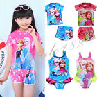 2016 Frozen Elsa Anna Swimwear Swimsuit Kids Bathing One-piece Tankini Baby Girl