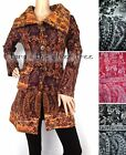 CLEARANCE Fluffy BUTTON JACKET Woman's CARDIGAN Hippy Ladies S M L UK 8 -14