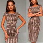 New Women Summer Casual Office Lady Party Evening Cocktail Midi Dress Size 6-20