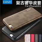 Vintage Classic Soft Leather Comfort Back Case Cover For iPhone 6 Plus 5 5s SE